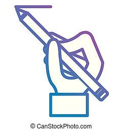 鉛筆, 手の執筆