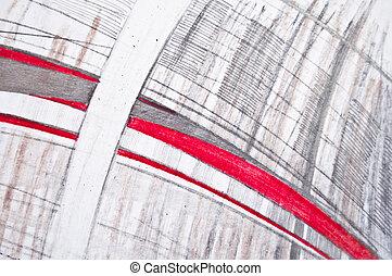 鉛筆, 抽象的, スケッチ, 背景