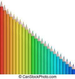 鉛筆, 抽象的, ベクトル, カラフルである, バックグラウンド。