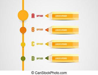 鉛筆, 現代, プレゼンテーション, テンプレート