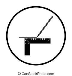 鉛筆, 線, スケール, アイコン