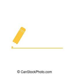 鉛筆, 線