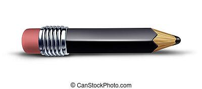 鉛筆, 黒