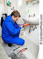 鉛錘測量, 修理, 洗滌槽