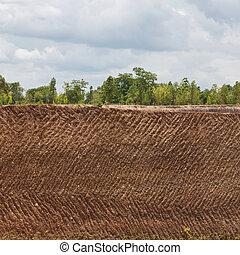 鉱山, 土壌, 私の, 手ざわり, 背景, 地球, 鉱石