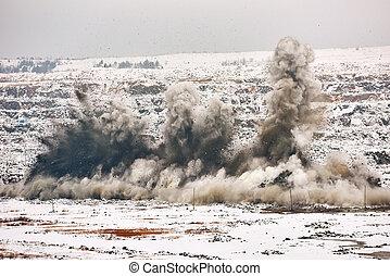鉱山, 爆発, 採石場, 私の, キャスト, 爆発, 開いた
