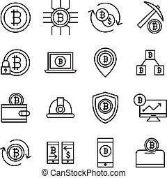 鉱山, bitcoin, アイコン
