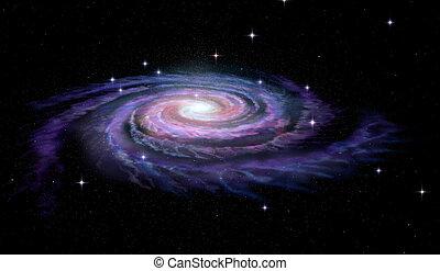 銀河, らせん状に動きなさい, 方法, 乳白色
