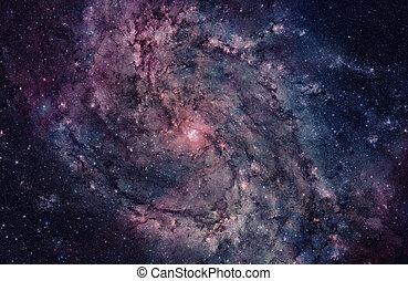 銀河, らせん状に動きなさい, space.