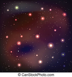 銀河, ベクトル, -, 背景, イラスト