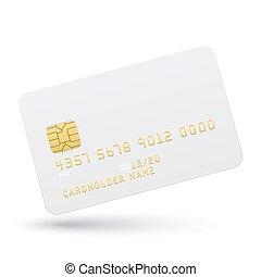 銀行カード, 背景, 白