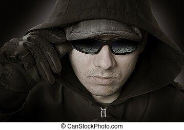 銀行強盗, ガラス