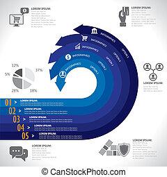 銀行業務, 財政, 錢, &, 電子商務, 相關, infographics, vector., 這, 圖表, 樣板,...
