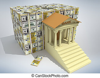 銀行業, 概念, 3d
