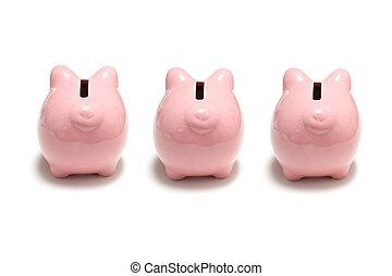 銀行, 小豚