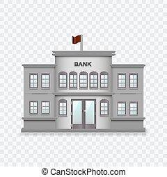 概念 財政 イラスト ベクトル 銀行 建物