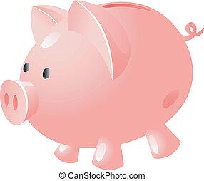 銀行, 豚