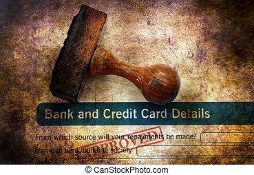 銀行, 適用, -, 公認, グランジ, 概念