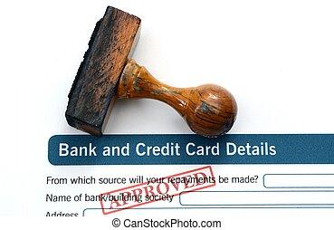 銀行, 適用, -, 公認