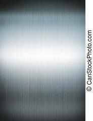 銀, ブラシをかけられた金属, 背景, 手ざわり
