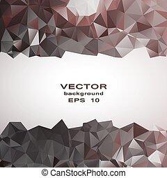 銀, 水晶, 抽象的, pattern., ビジネス, デザイン