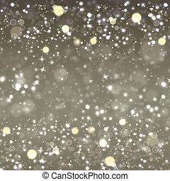 銀, 聖誕節, 背景, 喜慶, 幻想, 由于, 星