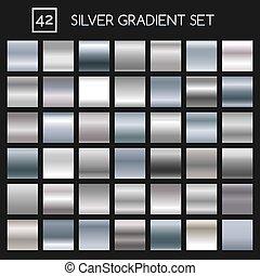 銀, 金屬, 坡度, 集合
