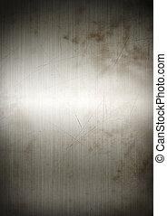 銀, 錆ついた, ブラシをかけられた金属, 背景, 手ざわり