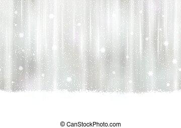 銀, 雪片, 背景, seamless