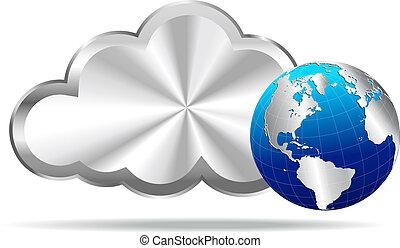 銀, 雲, 由于, 地球全球