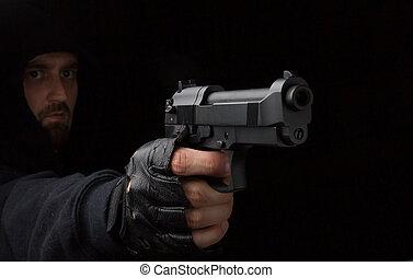 銃, 強盗