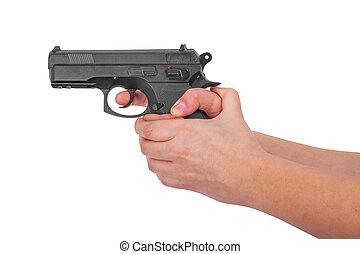 銃, 手を持つ