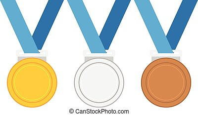 銅, ベクトル, メダル, イラスト, 金