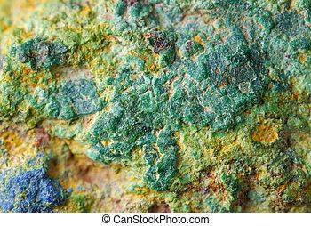 銅, 鉱石, の上, 手ざわり, 終わり