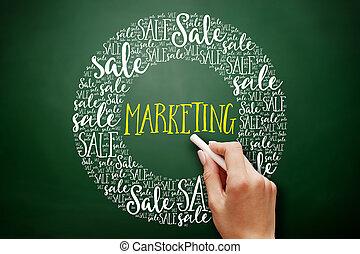 銷售, 詞, 雲, 拼貼藝術