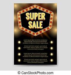 銷售, 飛行物, 樣板, 小冊子, 超級, 發光
