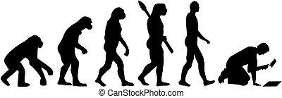 鋪磁磚工, 演化