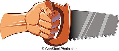 鋸, 手を持つ