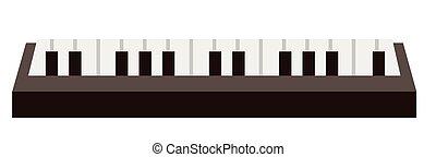 鋼琴鍵盤, 矢量, 卡通, illustration.