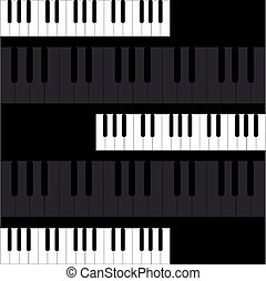 鋼琴鑰匙, 上, 黑色的背景