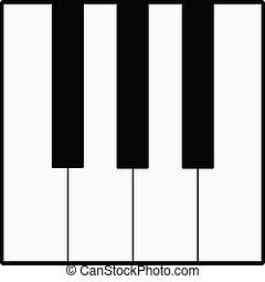 鋼琴鑰匙, 矢量, 插圖
