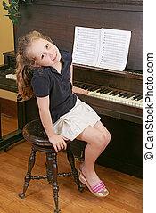 鋼琴, 孩子