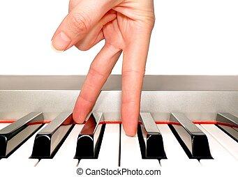 鋼琴, 手