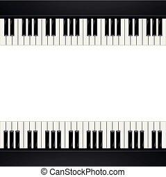 鋼琴, 框架, 背景
