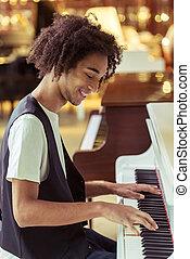 鋼琴 演奏, 人