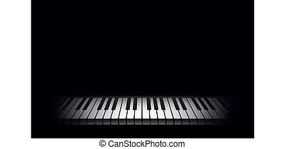 鋼琴, 背景。