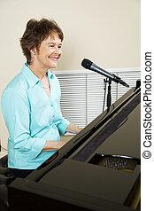 鋼琴, 表演者