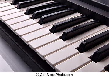 鋼琴, 鍵盤, 電子, 提高, 看法