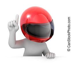 鋼盔, 比賽者, 參加比賽, 紅色