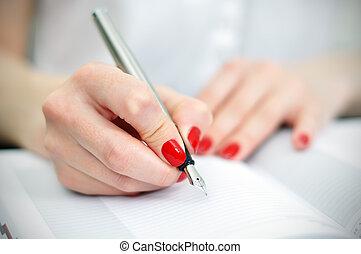 鋼筆, 泉水, 寫
